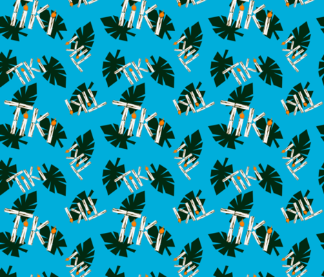 Tiki time fabric by cookiebonster on Spoonflower - custom fabric