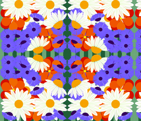 daisys and buttons  fabric by kae50 on Spoonflower - custom fabric