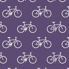 bicycle - bikes - white on purple