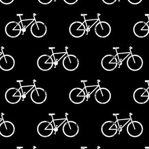 bicycle - bikes - white on black