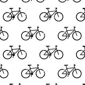 bicycle - bikes - black on white
