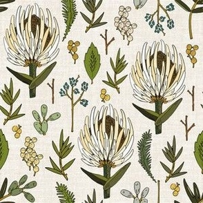 protea neutral linen