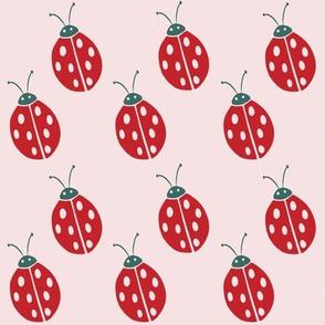 ladybugs on pink
