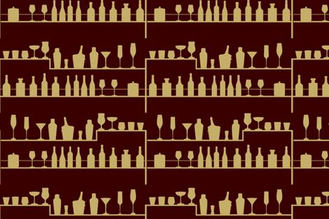 Vintage Bar fabric by svaeth on Spoonflower - custom fabric