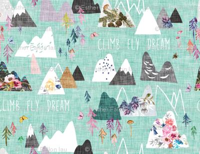 Mountains Dreams (aqua)