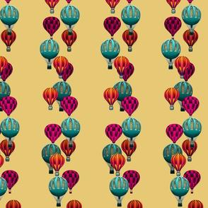 Hot Air Balloons on Dark Wheat