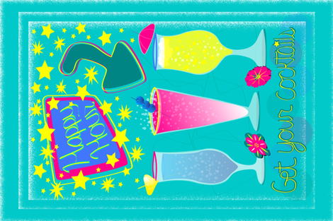 Happy hour fabric by everhigh on Spoonflower - custom fabric