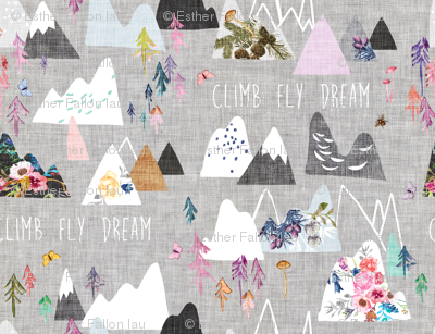 Mountain Dreams (grey) MED