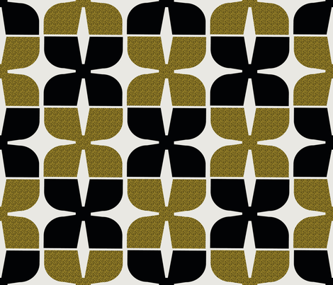 MidCentury Bold Gold fabric by chickoteria on Spoonflower - custom fabric