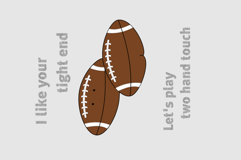 tight end pun fabric by alladults on Spoonflower - custom fabric