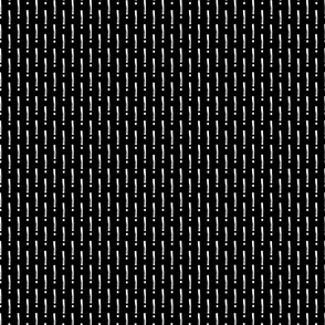 Exclamation Mark Pattern-  White On Black