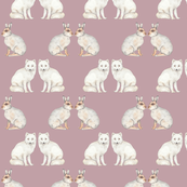 Arctic animals dark pink
