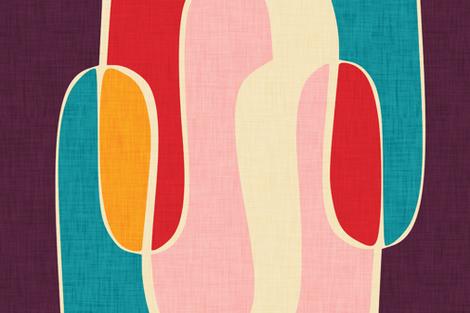 Retro Waves Tea Towel fabric by bruxamagica on Spoonflower - custom fabric