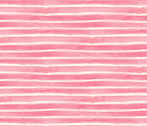watercolour pink stripe  fabric by mimipinto on Spoonflower - custom fabric