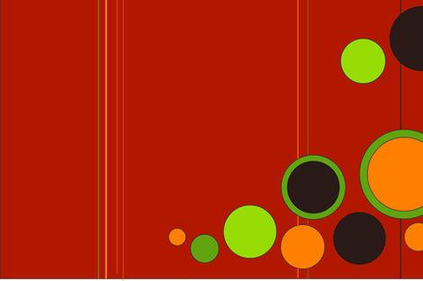 Retro Orange fabric by designs_by_karilynn on Spoonflower - custom fabric