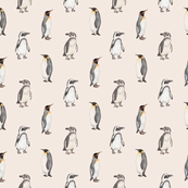 Penguin pattern on pink