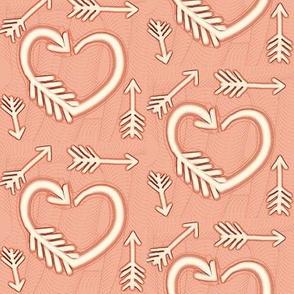 Shot Through the Heart / Arrows  -soft terracotta / peach