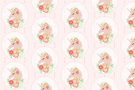 unicorn pink fabric by one_proud_grandma on Spoonflower - custom fabric