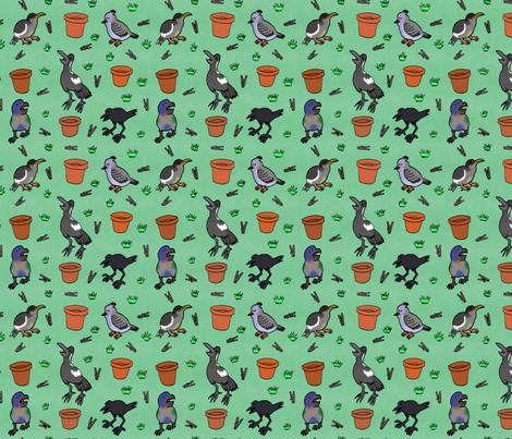 Suburb Fledglings fabric by bengarrybenross on Spoonflower - custom fabric