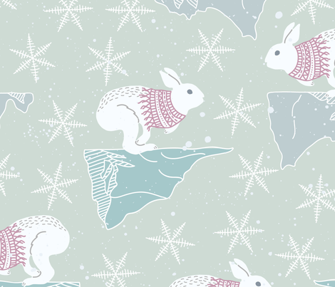 ARCTIC_SPACE_PATTERN_11 fabric by one_proud_grandma on Spoonflower - custom fabric