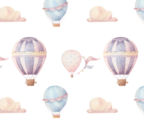 Vintage Balloons fabric by one_proud_grandma on Spoonflower - custom fabric