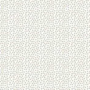 """4"""" Dark Tan Polka Dots"""