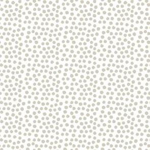 """8"""" Dark Tan Polka Dots"""