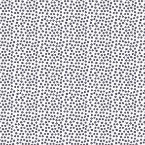 "4"" Muted Lilac Polka Dots"