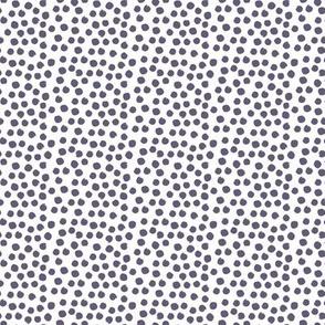 "8"" Muted Lilac Polka Dots"