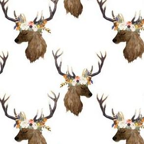 """4"""" Sienna Deer - White"""