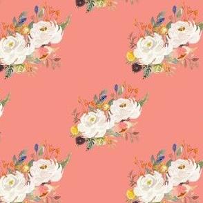 """4"""" Sienna Florals - August Peach"""