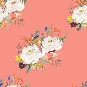 """8"""" Sienna Florals - August Peach"""