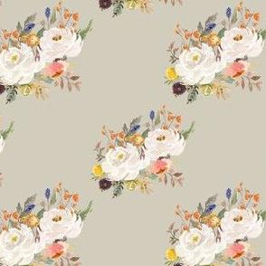 """4"""" Sienna Florals - Latte"""