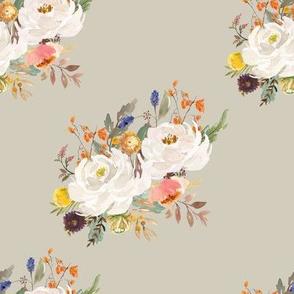 """8"""" Sienna Florals - Latte"""