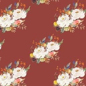 """4"""" Sienna Florals - Dark Terracota"""