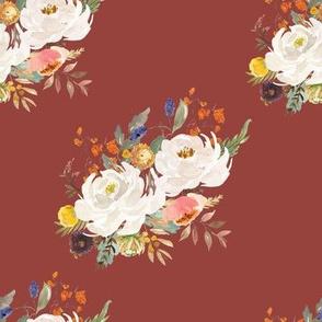 """8"""" Sienna Florals - Dark Terracota"""