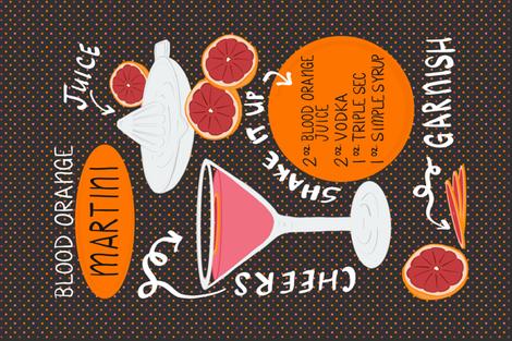 Blood Orange Martini fabric by mango|mandolini on Spoonflower - custom fabric