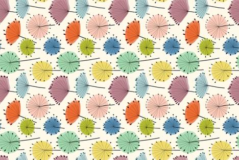 RETRO QUEEN ANN'S LACE tea towel fabric by nadinewestcott on Spoonflower - custom fabric