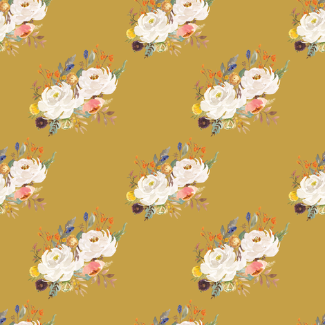 """4"""" Sienna Florals - September Yellow fabric by shopcabin on Spoonflower - custom fabric"""