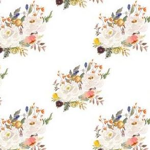 """4"""" Sienna Florals - White"""