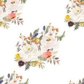 """8"""" Sienna Florals - White"""