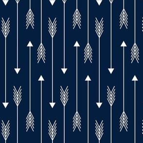 Skinny Arrows - Navy Blue, Ginger Lous