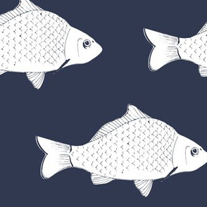 Fish in Navy Blue