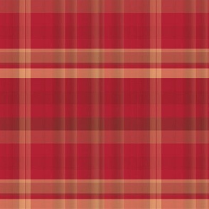 Geranium Red Plaid