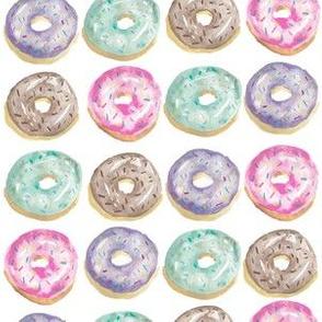 Watercolor Pastel Donuts