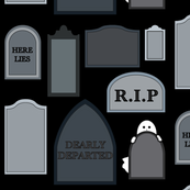 Ghostly tombstones V2