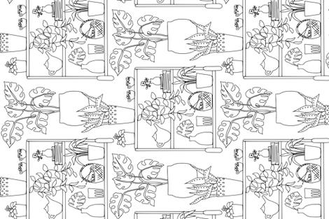 a knitter's bar cart fabric by karinka on Spoonflower - custom fabric