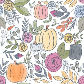 Pumpkin Spice Fall Florals