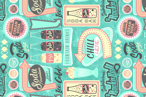 Sodalicious - Soda Bar fabric by sarah_treu on Spoonflower - custom fabric