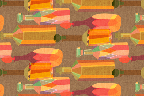 Vintage Decanters fabric by ceciliamok on Spoonflower - custom fabric
